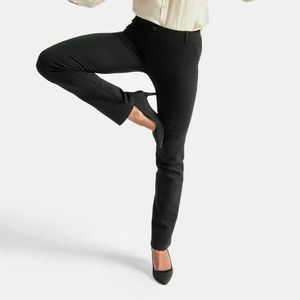 Betabrand Black Classic Straight Dress/Yoga Pants